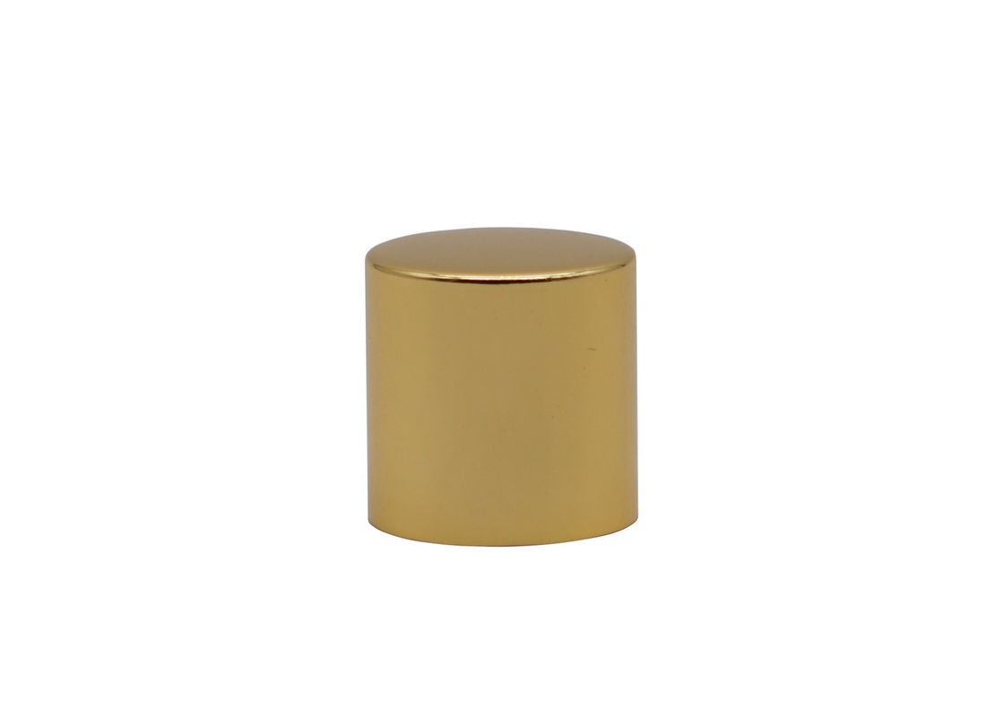 Gold Add Weight Aluminum Perfume Bottle Caps With Inner Plastic Black Cap
